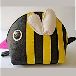 Betsey Johnson bee cosmetic bag- NWT